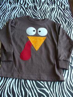 Boys Thanksgiving Turkey shirt.