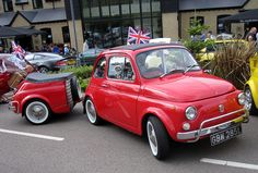 I want a Fiat 500 and matching trailer!!
