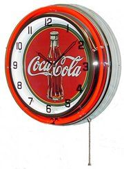 Wall Clocks Décor | Neon 18 Tin Wall Clock Coca Cola Red ** Read more reviews of the product by visiting the link on the image.(It is Amazon affiliate link) #pretty