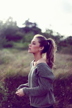 ponytail...