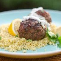Chef Jenn Segal - Grilled Moroccan Meatballs with Yogurt Sauce