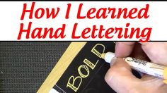 Hand Lettering Tips for Beginners. My new video about tools I've used to learn lettering for card making, art journaling and scrapbooking.