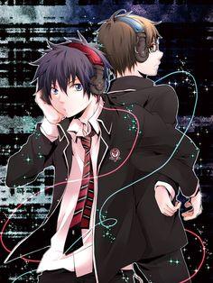 Ao no exorcist / Blue exorcist Rin and Yukio Okumura