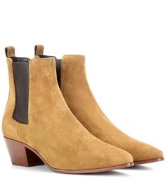 Saint Laurent Suede ankle boots Yellow              $149.00