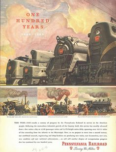 Pennsylvania Railroad 100 Years Advertisement