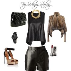 """leather and fur"" by sidoney-sterling on Polyvore"