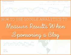 measure blog sponsor results
