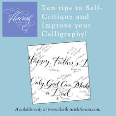 Ten Tips to Self-Critique and Improve your Calligraphy