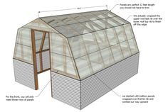 DIY Projects Barn Greenhouse Woodworking Plans by Ana White Diy Greenhouse Plans, Build A Greenhouse, Greenhouse Wedding, Outdoor Projects, Easy Diy Projects, Gambrel Barn, Cold Frame, Building A Shed, Building Plans