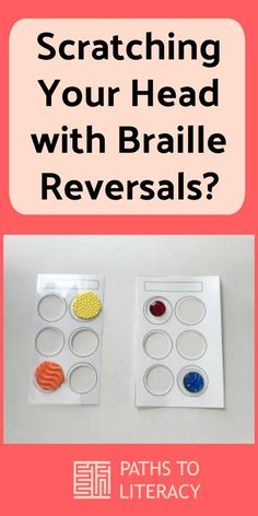 Wondering what to do to help students with braille reversals? These ideas can help! Braille Reader, Braille Alphabet, Teaching Career, Velcro Dots, Assistive Technology, Childhood Education, Literacy, Visual Impairment, Students