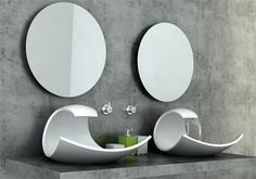 This is sink design by Joel Roberts as a Bathroom Innovations Awardfinalist. It has stylish and beautiful design inspired by oceanic form and motion. The basin Bathroom Sink Design, Modern Bathroom Sink, Modern Sink, Small Bathroom, Bathroom Stand, Bathroom Fixtures, Modern Bathrooms, Minimalist Bathroom, Downstairs Bathroom