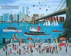 Jane Wooster Scott ~ Beneath the Brooklyn Bridge