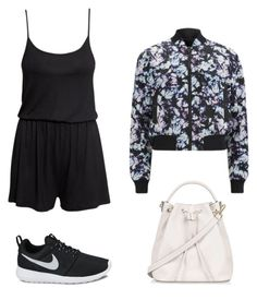 black dress high street look 3 by kristal-leung on Polyvore featuring Alexander Wang, H&M, NIKE and Topshop