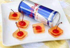Redbull and Vodka Jello Shots! hmmm...this sounds interesting
