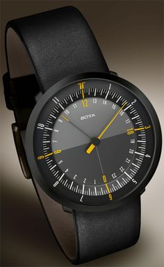 Botta Duo 24 Black Edition Watch now available at Watchismo.com