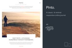 Check out Pinto | Blog/Photo Theme [50% Off!] by ThemeBeans on Creative Market