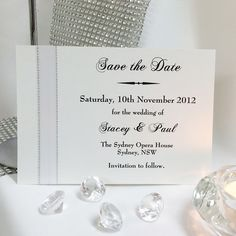 Grand Affair Save the Date Card - perfect for a white wedding or even if you have not decided on our accent colour yet but know you want a white wedding dress.