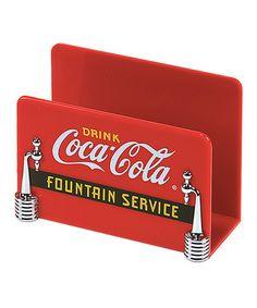 Loving this Coca-Cola Napkin Holder on #zulily! #zulilyfinds