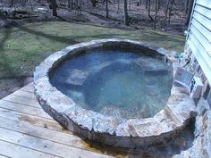 LANDSCAPE-STONE-SAUNA-DESIGN.US - Stone Hot tub