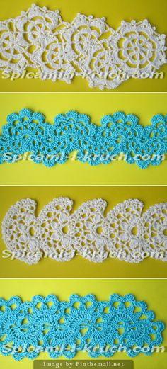 Crochet lace tape  ~~~  Source:  http://spicami-i-kruch.com/kniga-7-sposobov-vyazaniya-lentochnogo-kruzheva-kryuchkom/