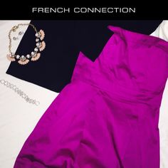 """French Connection """"Wizard"""" Strapless Dress ➡️New w/out tags!!                                                   Gorgeous, flattering strapless                             French Connection WIZARD dress                   Two front pockets.                                          Back zip up.                                                                          Essential item for your closet Little Strapless Dress never goes out of style! Perfect with a blazer & heels or dress down with a…"""