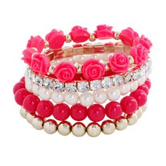 You're in Style with 1 or 2 of these Colorful Bracelets Item Type: Bracelets Fine or Fashion: Fashion Style: Trendy Gender: Women Setting Type: Prong Setting Stretch Bracelets, Bangle Bracelets, Bangles, Fashion Bracelets, Fashion Jewelry, Women Jewelry, Fashion Beads, Women Accessories, Jewelry Accessories