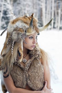 Gorgeous Winter,Tribal Girl