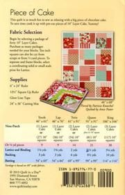 Piece of Cake pattern in sizes: Youth 46 x Lap 46 x Twin 61 x Queen 91 x King 106 x 106 Vendor : Quilt In A Day Product Type : Quilts - Crib, Quilts - Lap & Bed Designer : Eleanor Burns Genre : Big Block, Panel, Precut Friendly Layer Cake Quilt Patterns, Layer Cake Quilts, Quilt Block Patterns, Layer Cakes, Patchwork Patterns, Square Patterns, Big Block Quilts, Scrappy Quilts, Easy Quilts