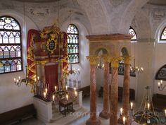 Czech 10 Stars: Mikulov | Jewish Heritage EuropeMikulov, Czech Republic: the ark and four-pillared bimah (where the Torah was read) in the restored synagogue