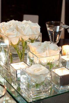 Si te casas en los meses más fríos del año y quieres una decoración acorde a ellos, entonces no te pierdas estos centros de mesa para bodas tan especiales