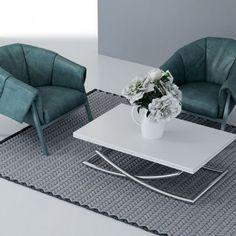 UPPER Table basse transformable, plateau relevable Laqué noir ...