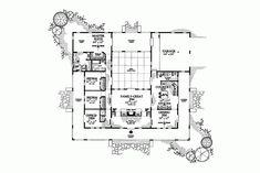 U shaped house plans with courtyard proiecte de casa in forma de U 3
