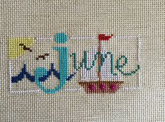 completed cross stitch Lizzie Kate June