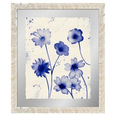 Add artful appeal to your entryway or library with this framed giclee print, featuring a watercolor-inspired floral motif.   Produc...