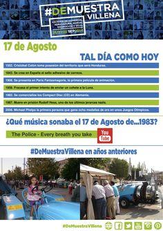 TAL DÍA COMO HOY. 17 de Agosto. #DeMuestraVillena  www.muestravillena.villena.es www.facebook.com/Muestravillena @muestravillena