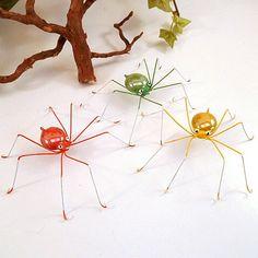 Green Spider Yellow Spider Orange Spider Medium Handmade. $24.00, via Etsy.