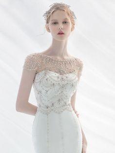 Wedding Dresses Photos, Wedding Dress Trends, Designer Wedding Dresses, Wedding Gowns, Fashion Face, Girl Fashion, Fashion Dresses, Beautiful Girl Image, Beautiful Bride
