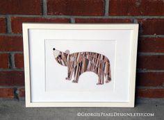 www.georgiepearldesigns.etsy.com  Whimsical Bear Illustration. Nursery Art. by GeorgiePearlDesigns, $20.00
