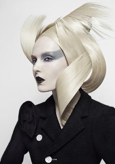 Model Maja Salamon transfixes with her Nicolas Jurnjack hairdos, styled by Sara Maino.