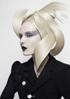 Model Maja Salamon transfixes with her Nicolas Jurnjack hairdos, styled by Sara Maino.