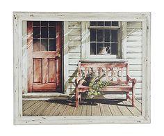 Cuadro de madera Country - 56x46 cm