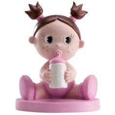 Cake topper Bimba con biberon Simpatica bimba vestita di rosa è un cake topper originale ed un ricordo unico per la nascita della tua piccola. - NASCITA E BATTESIMO, CakeTopper Nascita -   Dimensioni: 11x8 cm         -http://www.dettagliperfetti.com/caketopper-nascita/5569-Cake-topper-Bimba.html - bimbo, bimba, nascita, battesimo