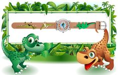 Vanyar Dinosaur Kids Time Teacher Quartz Wrist Watch *** Learn more by visiting the image link. (This is an affiliate link) Dinosaur Printables, Dinosaur Crafts, Dinosaur Birthday Party, 3rd Birthday, Baby Dinosaurs, Quilt Labels, Borders And Frames, Kids Corner, Baby Gifts