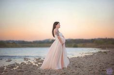 Miley Ombre gown / Maternity gown / by SewTrendyAccessories
