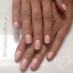 Gorgeous nude nails for Mollie from the Saturdays. Created by Sophia from The Beauty Box.