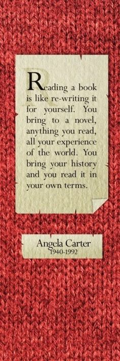 Wonderful take on reading, and explains why you can re-read the same story over and over but learn something new each time