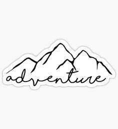 Adventure- sticker Pegatina