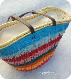 Ya os comenté mi MINICOLECCIÓN para la feria.  Hoy os muetro unos cuantos más. Algunos ya los conocéis.  El capazo BORLAS DE COLORES:       ... Crochet Backpack, Straw Handbags, Summer Handbags, Ethnic Bag, Diy Tote Bag, Bags 2017, Vintage Clutch, Basket Bag, Quilted Bag