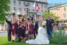 Reception at the Gettysburg Hotel which is in the background.  What a fun day!