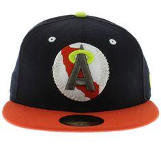 Anaheim Angels Navy, Orange, Cyber Green 59fifty